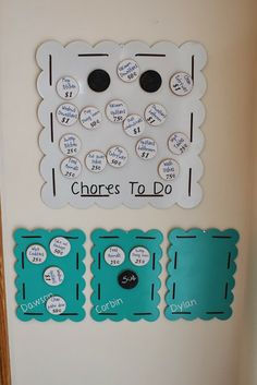 Children's chore/allowance chart - great idea to pay them for what they actually do!