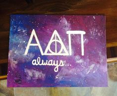 Harry Potter Galaxy Sorority Canvas by meredithsart on Etsy, $20.00