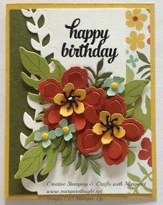 Botanical Garden Birthday using Stampin' Up Botanical Blooms Stamp Set, Botanical Builder Framelits Dies and Botanical Gardens Designer Series Paper