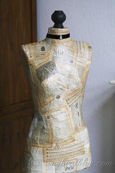 How to make a dressform from scratch. www.songbirdblog.com