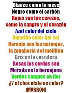 Poema de los colores!