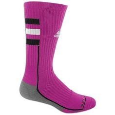 adidas Team Speed Crew Sock - Mens - Intense Pink/Black