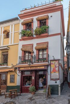 Houses in Quarter Santa Cruz, Seville, Spain