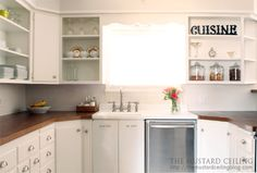 Great tutorial on how to use oak doors for countertops.