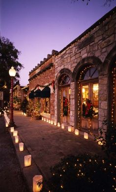 A stroll through the quaint shops in Salado Texas awaits you at Christmas time! Picture courtesy of TX Highways Magazine.