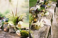 Many beautiful centerpieces and arrangements