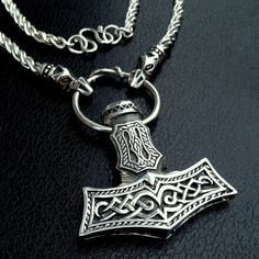 Mjolnir Pendant  Mk III by BorealForge on Etsy