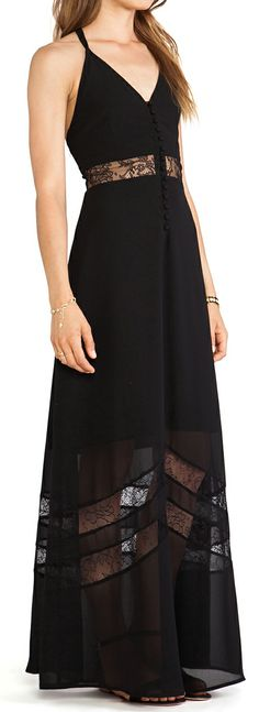 Lace inset maxi