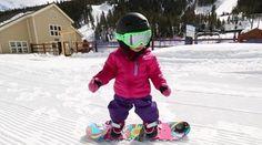 snowboarding baby