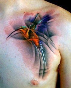 tatuaże ptaki koliber