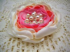 Pearl Brooches - Brooch Pin - Fabric Flower Brooch - Brooches - Magnetic Pin - Magnetic Shawl Pin - Gift for Her - Magnetic Corsage - Pin by OtherCuteStuff on Etsy