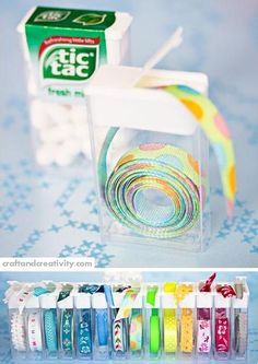 Oragnização de fios em embalagens de Tic Tac