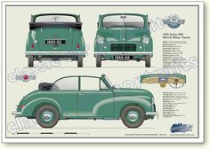 1952 Morris Minor...I would look so good driving this car!