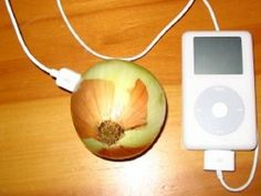 Protons are the positively charged particles and electrons are the negativley charged particles - you can charge your iPod with an onion. Omg trying it.