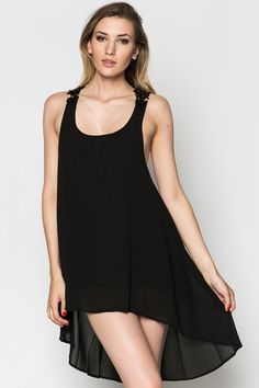 Crochet Back Dipped Hem Dress @ Everything5pounds.com