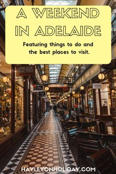 Weekend in Adelaide (a.a Radelaide) - How to spend the weekend in Adelaide, South Australia. From cheap accommodation to things to do and day trips, read my guide for a guaranteed great weekend in Adelaide. Perth, Brisbane, Melbourne, Sydney, Adelaide South Australia, Visit Australia, Western Australia, Australia Travel, Travel