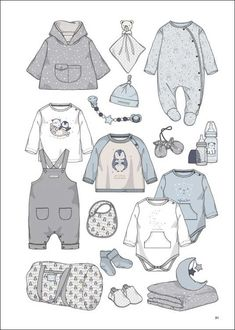 Appletizer - Baby / Children / Junior - Trend Services Baby Boy Outfits, Kids Outfits, Silhouette Mode, Casa Anime, Baby Sketch, Clothing Sketches, Baby Clip Art, Baby Kind, Kids Prints
