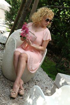 Abito rosa romantico - Friday's look, alessia milanese, thechilicool, fashion…