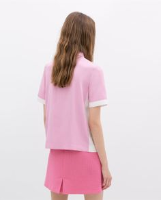 Image 4 of TWO-TONE POLO SHIRT from Zara