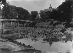 This photo provided by the Cultural Heritage Administration shows Hyangwon Pavilion and Chwihyang Bridge when the bridge was located north of the pavilion. (Yonhap)