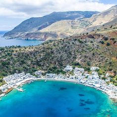 Loutro, a little paradise in the south of Crete, accessible only by sea #loutro #chania #crete #greece . . .