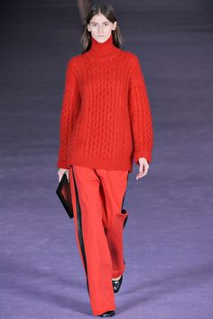 Christoper Kane 2012 F/W RTW - Red Sweater , Red Pants, Red Cluch ! Awesome this