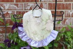 Purple Baby Bib  Ruffled Baby Bib  Purple Floral by bubblecakes, $12.95 Personalized baby gift ideas!