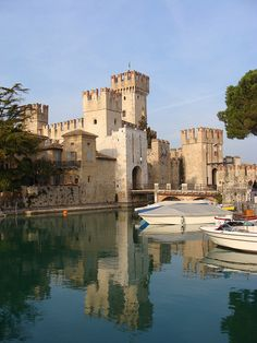 The Scaliger Castle, Sirmione, Lake Garda, Italy, province of Brescia, Lombardy