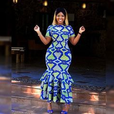Ankara Outfit, Ankara Dress, African dress, African wax prints, African Clothing… Remilekun - African Styles for Ladies African Wedding Dress, African Print Dresses, African Fashion Dresses, African Dress, African Outfits, Ankara Fashion, African Prints, Wedding Dresses, Event Dresses