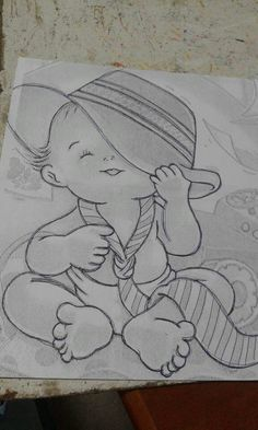 67 new Ideas baby drawing easy kids Easy Pencil Drawings, Art Drawings Sketches Simple, Girl Drawing Sketches, Doodle Art Drawing, Girly Drawings, Princess Drawings, Baby Drawing, Cartoon Drawings, Indian Art Paintings