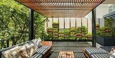 The verdant Villa Jardín in Mexico City uses vegetation to unify its indoor and outdoor spaces. Architecture firm ASP Arquitectura Sergio Portillo introduced terraces, pergolas and an entire room packed with greenery to this apartment occupying the lower level of a residential building in Mexico City. The result is an exotic home that draws nature inside.