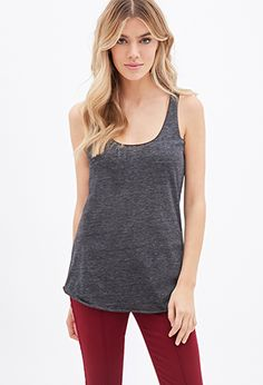Heathered Racerback Tank | Forever21 - 2000099222