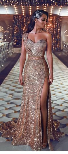 stunning champagne sequins long dress 45874b9b7a41