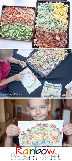 Rainbow Popcorn Craft #FunSideOut from Nap-Time Creations