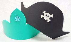 PARTY PACK Mermaid Tiara/Crown and Pirate by TeatotsPartyPlanning