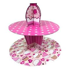 Cardboard Fairy Cup Cake Muffin Stand 2 Tier: Amazon.co.uk: Kitchen & Home