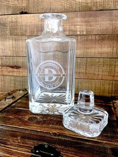 Our Whiskey Decanter Are Classic Gifts for Groomsmen! Engraved with their name, position in the wedding, wedding date or change it to fit your perfect engraving. This Whiskey Decanter is a Memorable Keepsake That Can be Used Daily – with Permanent Engraving That Will Last a Lifetime.  7.25″ tall  3.5″ wide  Holds 27oz of liquor