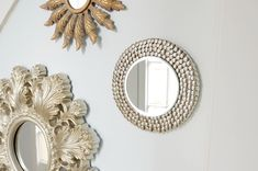 Our favorite IKEA hacks of all time. Everything from IKEA beds, to standing desks to dining tables. DIY furniture projects for every room. Ikea Hack Vanity, Ikea Mirror Hack, Diy Mirror, Mirror Glass, Mirrors, Wall Mirror, Thumbtack Art, Diy Recycling, Sunburst Mirror