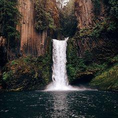 whitenoten: Photo by @jaredetheridge #liveauthentic #livefolk Toketee Falls