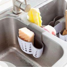 Kitchen Storage Baskets New Sponge Holder Sink Soap Holder Kitchen Sink Organization, Sink Organizer, Bathroom Storage, Kitchen Baskets, Buy Kitchen, Kitchen Utensils, Kitchen Stuff, Kitchen Ideas, Bathroom Gadgets