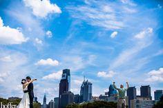Jaimee & Steve - On top of the Art Museum - Philly