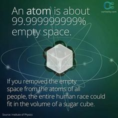 The entire human race could fit in the volume of an ice cube!