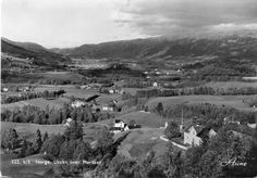 Nord-Trøndelag fylke utsikt over Meråker brukt 1955 Utg Aune forlag