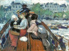 Pablo Picasso ( 1881-1973), Sur l'Impériale,  traversant la Seine - 1901