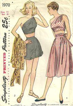 Simplicity 1970 Vintage 40s Sewing Pattern door studioGpatterns, $38.50