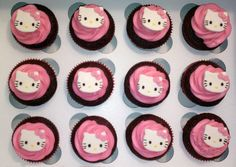 Hello Kitty Cupcake Toppers completely edible by Sugardoll