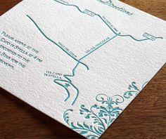 Kira letterpress wedding map