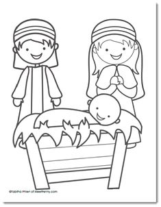 Kleurplaat: Nativity Coloring Page