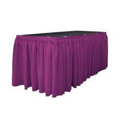 """LA Linen Wayfair Basic Tablecloth Size: 252"""" W x 29"""" L, Color: Magenta"""