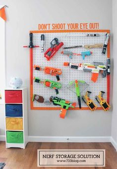 Love this for a toy organization idea, too! So clever.